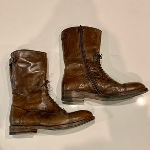 Bed Stu Cobbler Series Brown Leather Boots - NEW